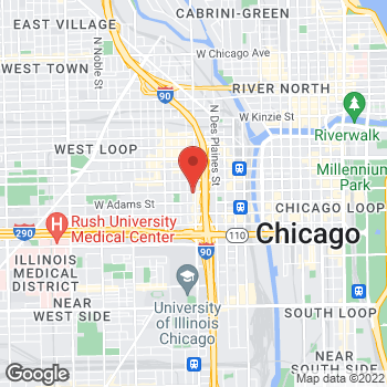 Map of Fifth Third Mortgage - Stephanie Chisti at 100 S. Halsted, Chicago, IL 60661