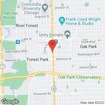 Map of Bed Bath & Beyond at 215 Harlem Avenue, Forest Park, IL 60130