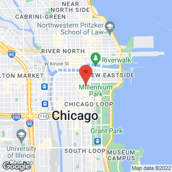 Map of Staples at 111 North Wabash Ave., Chicago, IL 60602
