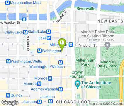 Map of 111 N Wabash Ave in Chicago