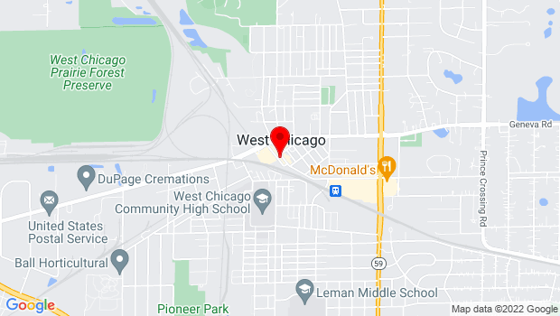 Google Map of 129 Main Street, West Chicago, IL 60185