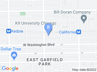 Map of K9 University Chicago Dog Boarding options in Chicago | Boarding