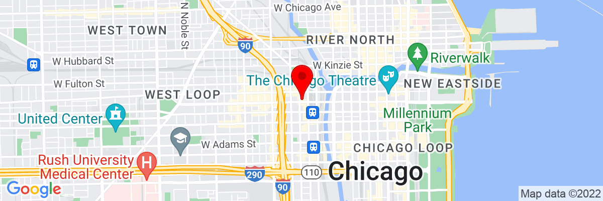 Google Map of 41.884696111111,-87.642351944444