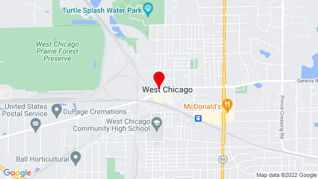 Google Map of 103 W. Washington St., West Chicago, IL 60185