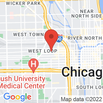 Map showing Heritage Bikes and Coffee (Fulton Market)