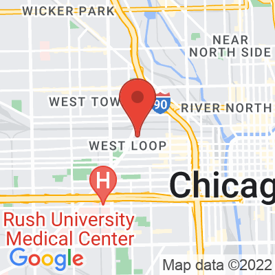Map showing Fairgrounds Coffee and Tea (Fulton Market)