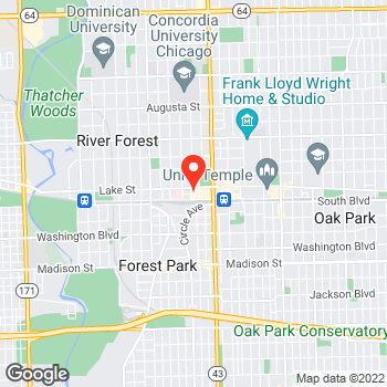 Map of LOFT at 7331 Lake Street, River Forest, IL 60305