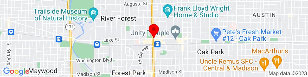 Google Map of 41.888585, -87.80470679999999
