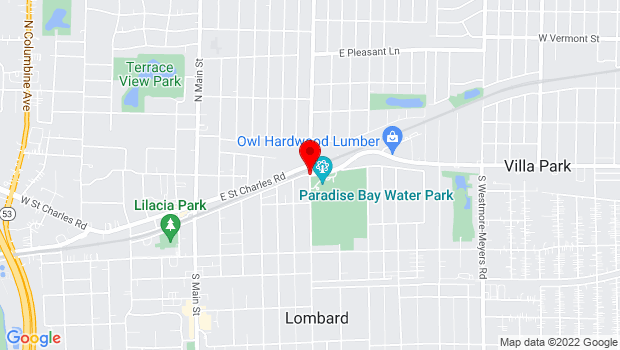 Google Map of Parkside and St. Charles, Lombard, IL 60148