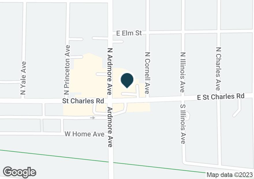 Google Map of10 E SAINT CHARLES RD