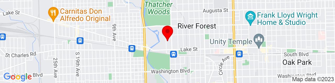 Google Map of 41.890187, -87.82690199999999