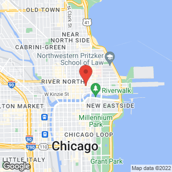 Map of Charlotte Tilbury - Nordstrom Chicago at 55 E Grand Avenue, Chicago, IL 60611