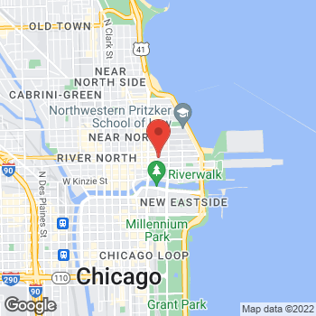 Map of Taco Bell Cantina at 205 E Ohio Street, Chicago, IL 60611