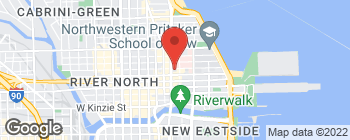 Map of 645 N Michigan Ave in Chicago