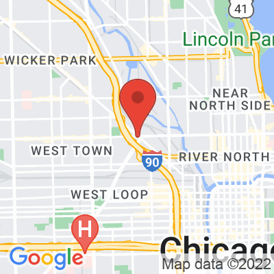 Map showing Big Shoulders Coffee (West Town)
