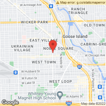Map of Pearle Wicker Park at 845 N Ashland Ave, Chicago, IL 60622