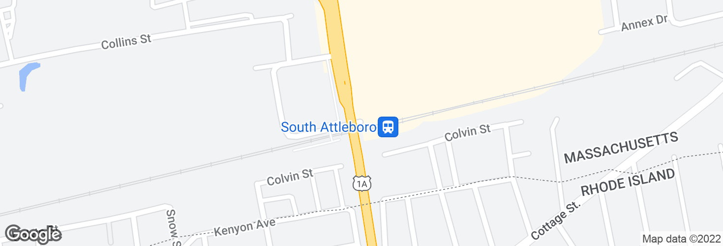 Map of South Attleboro and surrounding area
