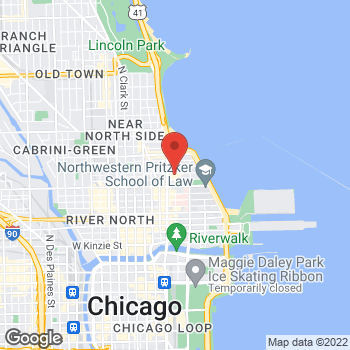 Map of Oakley Store at 835 N Michigan Ave, Chicago, IL 60611