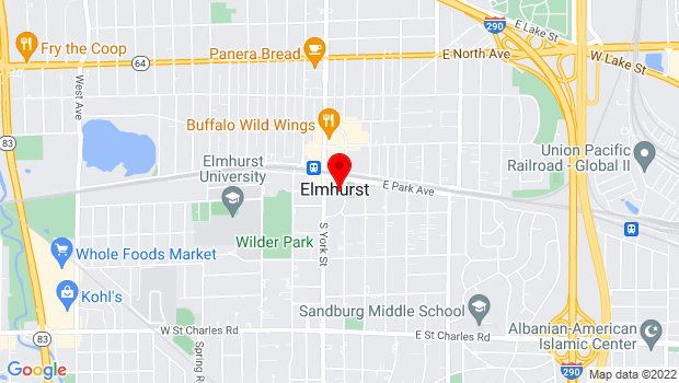 Google Map of 120 E. Park Ave., Elmhurst, IL 60126