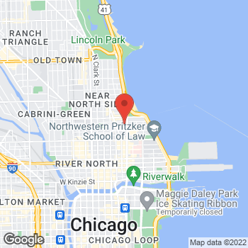 Map of BCBGMAXAZRIA at Bloomingdales at 900 North Michigan Ave, Chicago, IL 60611