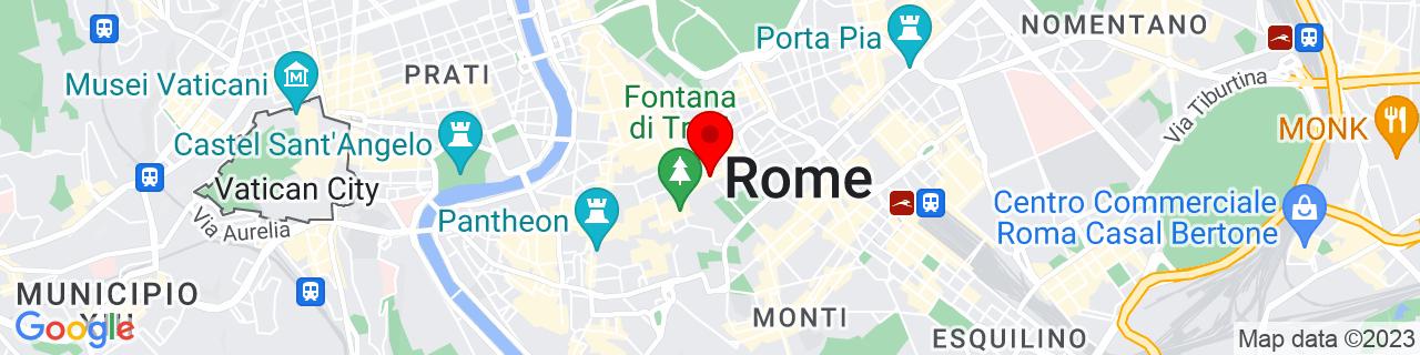 Google Map of 41.902788888888885, 12.48561111111111