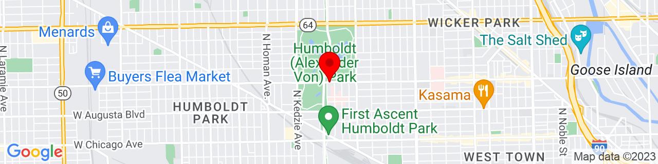 Google Map of 41.9028805, -87.7013776