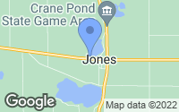 Map of Jones, MI