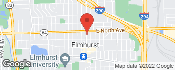 Map of 263 N York St in Elmhurst