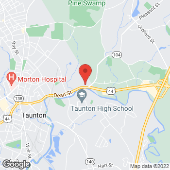 Map of Kristen Upchurch, MD at 152 Dean Street, Taunton, MA 02780