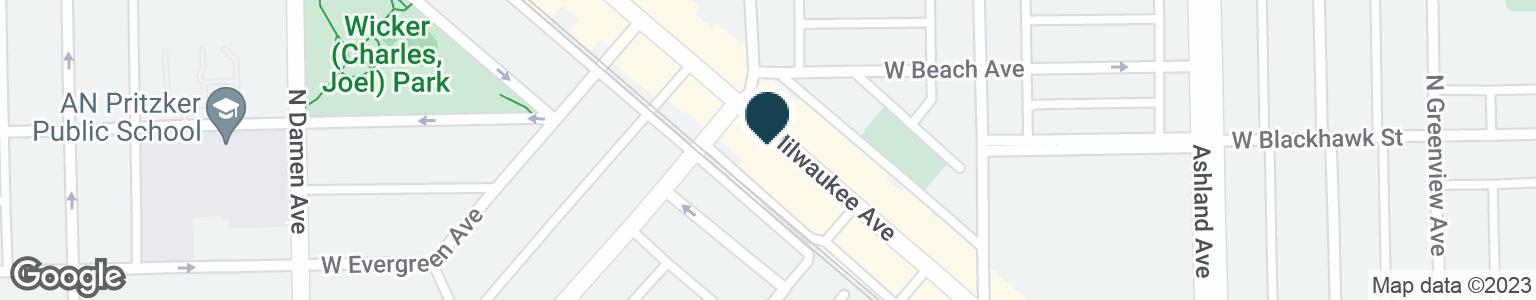 Google Map of1372 N MILWAUKEE AVE
