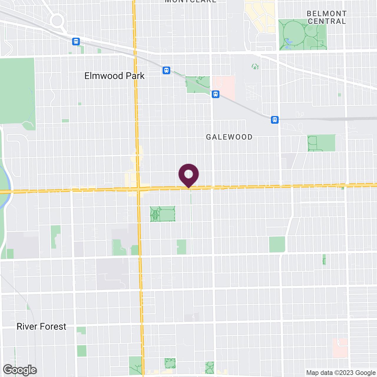 Google Maps static image of Oak Park & Surrounding Areas