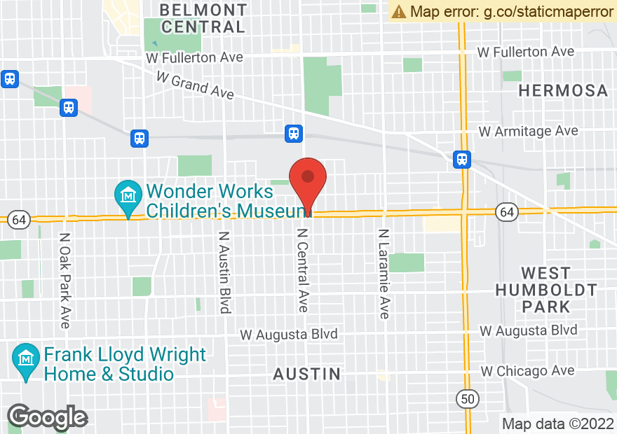 Google Map of 1546 N CENTRAL AVE