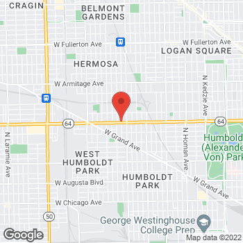 Map of Total Wireless Store at 4038 W North Ave, Chicago, IL 60639