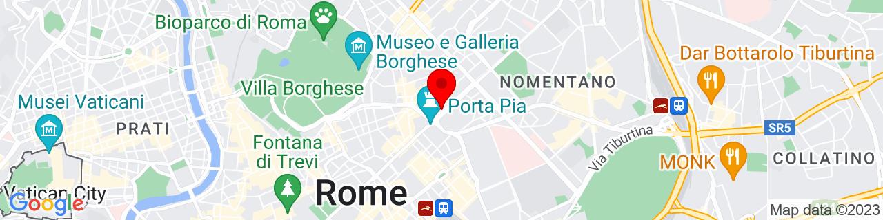 Google Map of 41.91045347666418, 12.50244140625