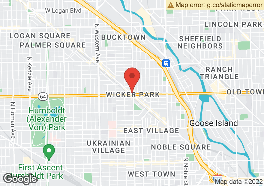 Google Map of 1601 N MILWAUKEE AVE