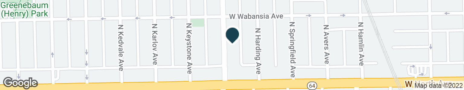 Google Map of1627 N PULASKI RD