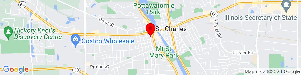 Google Map of 41.911902, -88.31616799999999