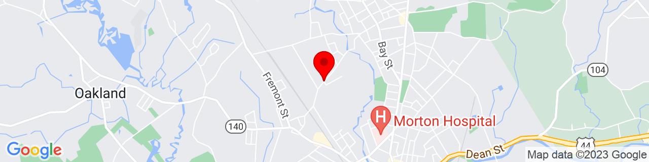 Google Map of 41.9129559, -71.1047987