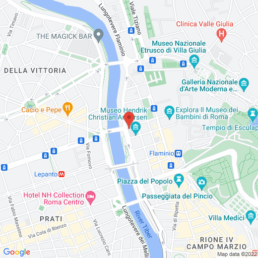 Google Map of Temple Rome Library