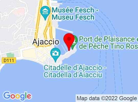 Google Map of Ajaccio