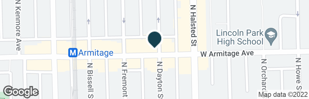 Google Map of834 W ARMITAGE AVE