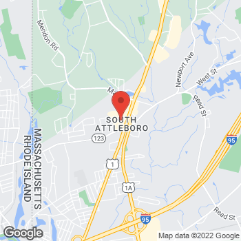 Map of Staples at 287 Washington Street, S. Attleboro, MA 02703