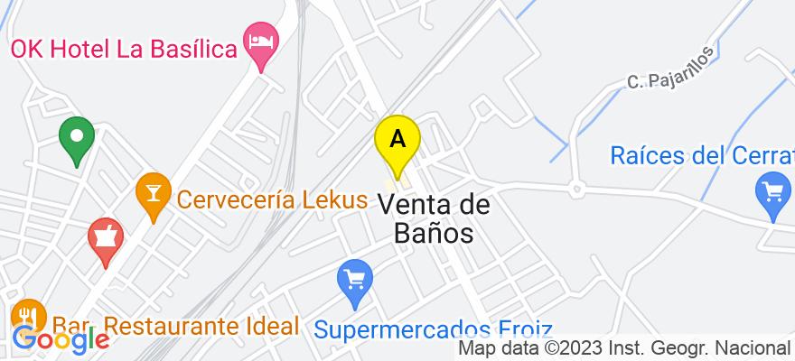 situacion en el mapa de . Direccion: C/ Antonio Machado 4, 3º D, 34200 Venta de Baños. Palencia
