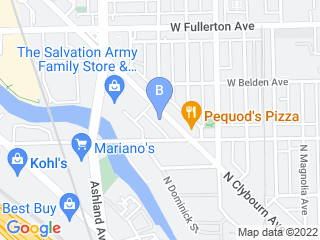 Map of Pooch Hotel Lincoln Park Dog Boarding options in Chicago | Boarding