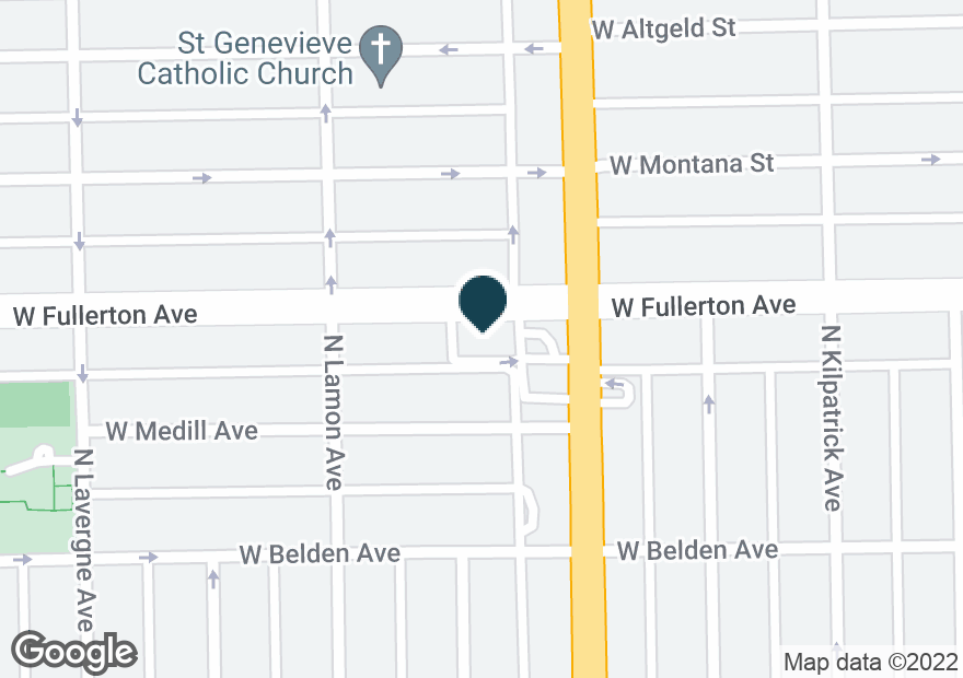 Google Map of4817 W FULLERTON AVE