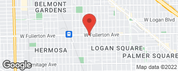 Map of 3743 W Fullerton Ave in Chicago