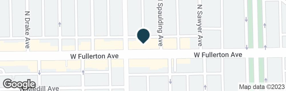 Google Map of3320 W FULLERTON AVE