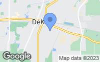 Map of DeKalb, IL