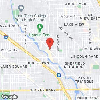 Map of Taco Bell at 2575 North Clybourn, Chicago, IL 60614