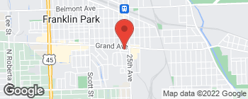 Map of 9649 Grand Ave in Franklin Park